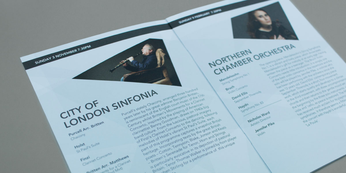 Concert Brochure Design Chelmsford
