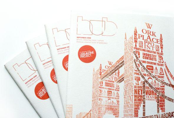 magazine cover design for london hub inscribe