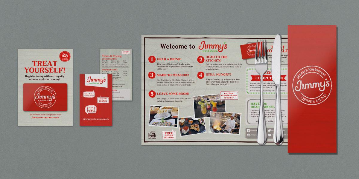 Restaurant Identity design for Jimmy's