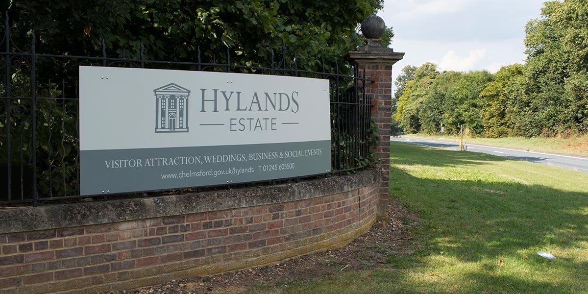 Signage Design Hylands Estate