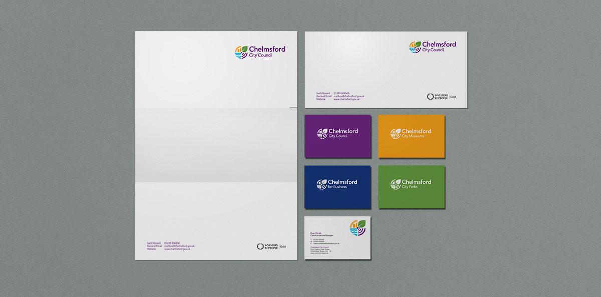 Chelmsford City Stationery Design