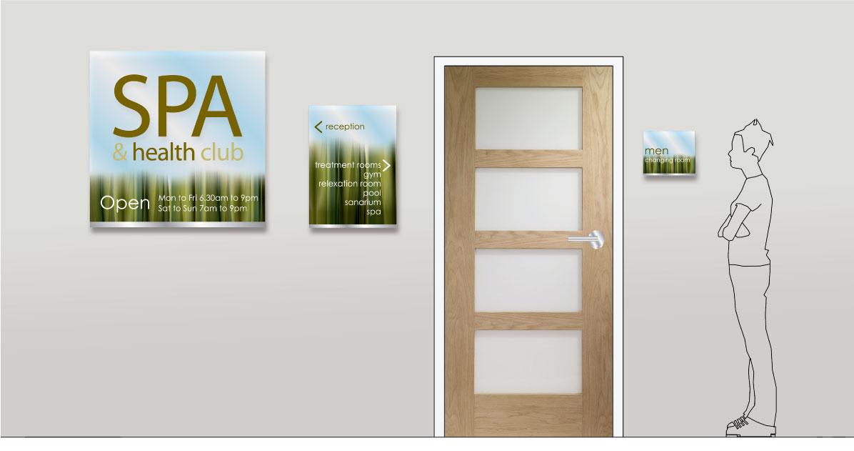 Spa Signage Design