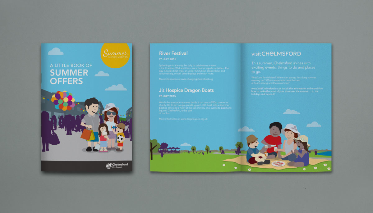 Summer Booklet Voucher Design